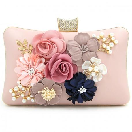 """Luxusní společenská kabelka-růžová """"Flower"""""""