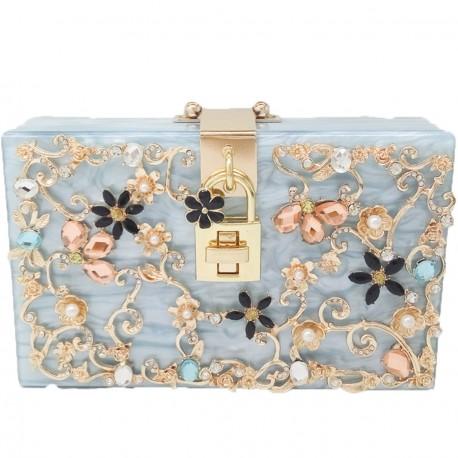 """Luxusní společenská kabelka-modrá """"Blue Shine"""""""