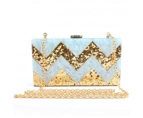 """Luxusní společenská kabelka """"Blue Triangle"""""""