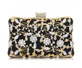 """Luxusní večerní kabelka """"Pure Black"""""""