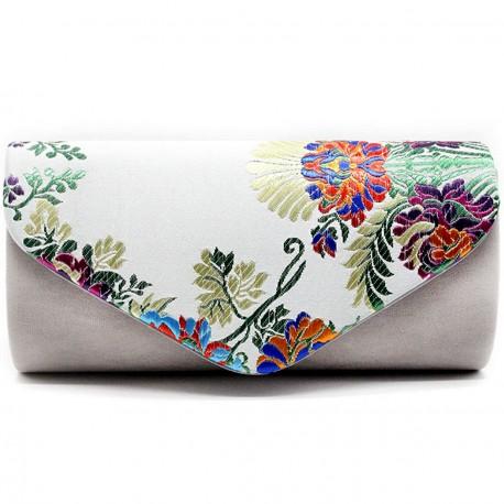 """Společenská večerní kabelka - bílá """"Floral Clutch"""""""