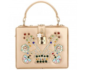 """Luxusní společenská kabelka-zlatá """"BB"""""""