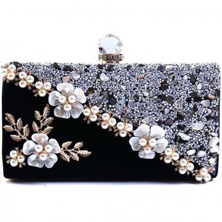 """Černá společenská kabelka - psaníčko """"Glamour"""""""