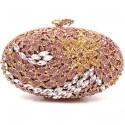 """Luxusní růžová večerní kabelka """"Purple Diamond"""""""