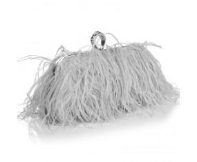 """Luxusní večerní kabelka """"Feather Dream - gray"""""""
