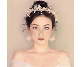 """Svatební čelenka do vlasů s náušnicemi """"Fine Floral"""""""