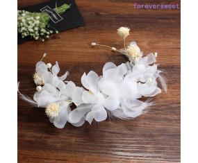 """Svatební ozdoba do vlasů """"White Flowers"""""""