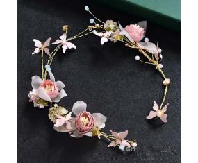 """Svatební ozdoba do vlasů """"Pink Flower"""""""