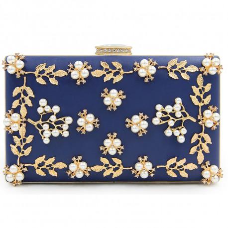 """Společenská kabelka-modrá """"Pearl"""""""