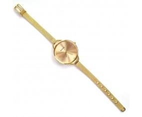 Náramkové hodinky zlaté barvy, dámské