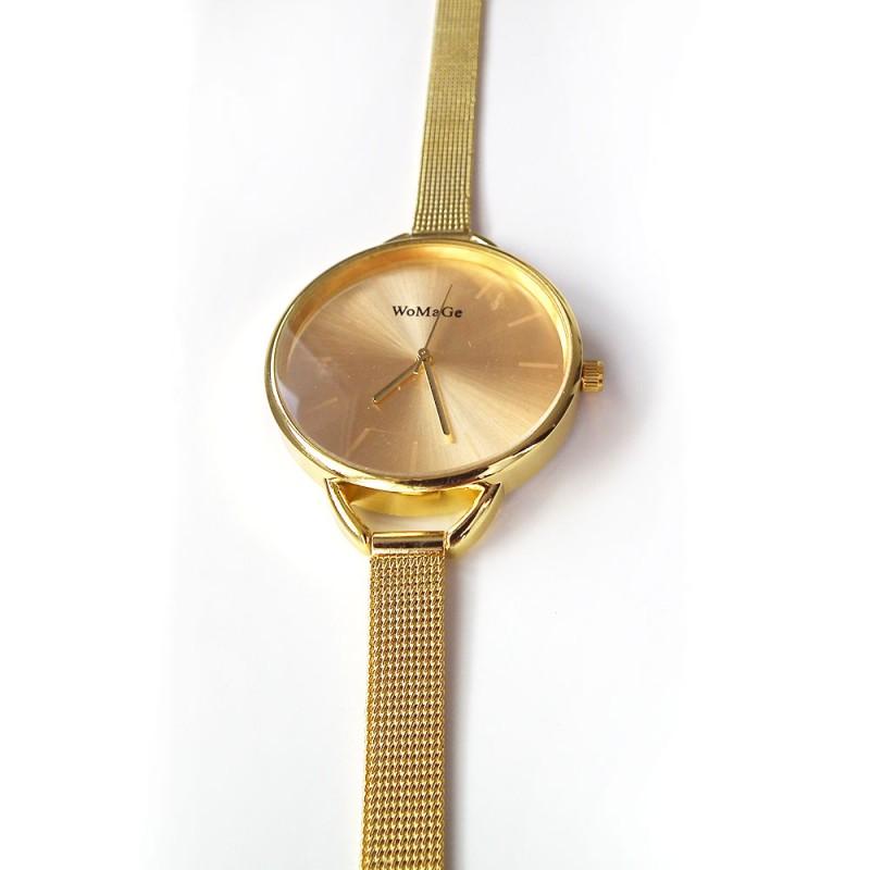 a076f817bbc ... Náramkové hodinky zlaté barvy