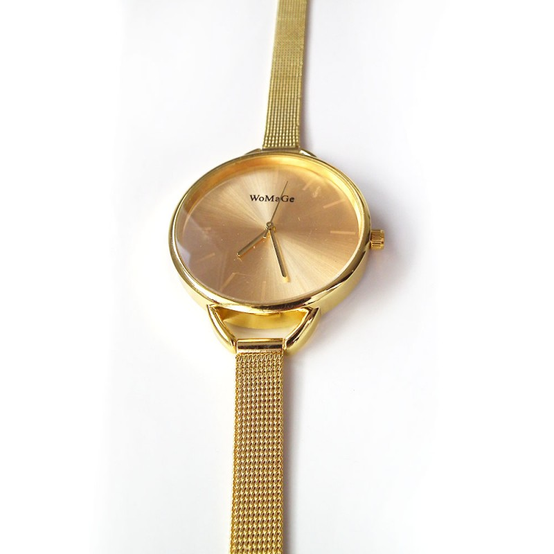 f76ea746ef ... Náramkové hodinky zlaté barvy