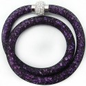 "Shamballa náramek ""Purple dust"""