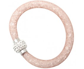 "Shamballa náramek ""Light pink dust"""