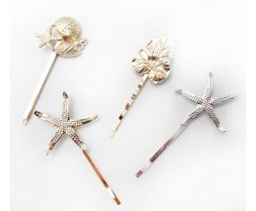 Spony do vlasů - Hvězdice (stříbrná)