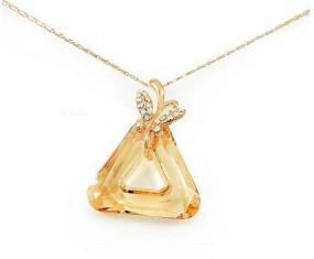 """Pozlacený náhrdelník """"Triangle""""s krystalem Swarovski Elements"""