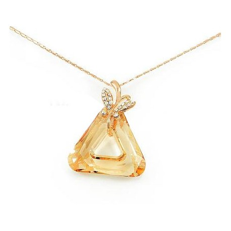 Náhrdelník s přívěskem pozlacený s krystalem Swarovski Element