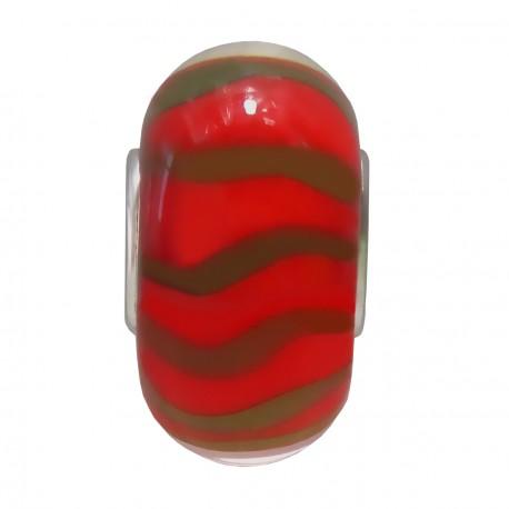 Přívěsek z muránského skla ve vánočních barvách