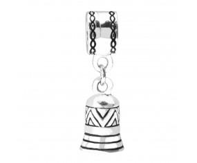 Stříbrný přívěsek na náramek ve tvaru zvonečku