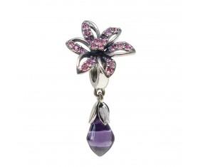 """Přívěsek na náramek """"Purple diamond"""" 925 Sterlingové stříbro"""