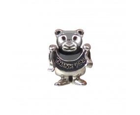 """Přívěsek na náramek """"Teddy Thank You"""" 925 Sterlingové stříbro"""