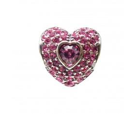"""Přívěsek na náramek """"Pink Heart"""" 925 Sterlingové stříbro"""
