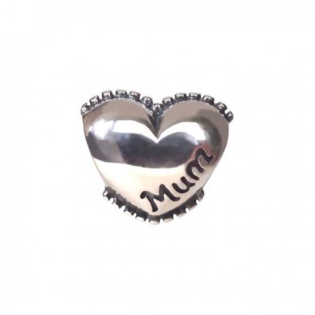 """Přívěsek na náramek """"Mum Heart"""" 925 Sterlingové stříbro"""