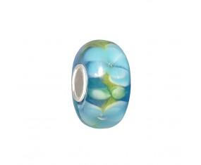 """Přívěsek na náramek """"Light Blue Flower"""" 925 Sterlingové stříbro"""