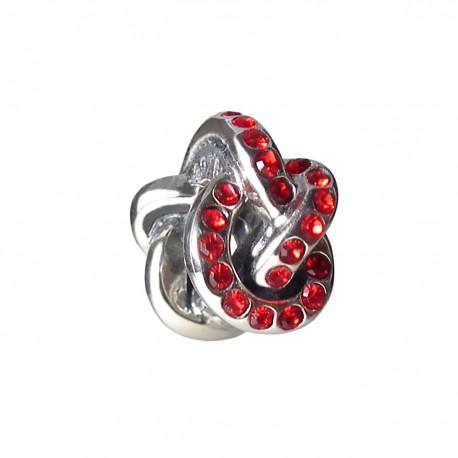 """Přívěsek na náramek """"Red Tangle"""" 925 Sterlingové stříbro"""