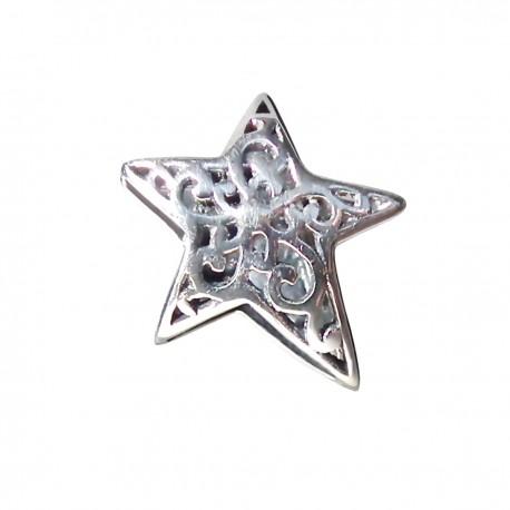 """Přívěsek na náramek """"Knitted Star"""" 925 Sterlingové stříbro"""
