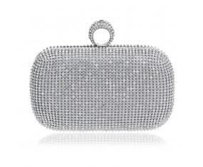 """Dámská třpytivá kabelka """"Silver Diamond"""""""