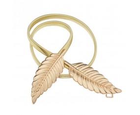 "Zlatý kovový opasek ""Leaf"""