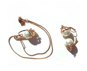 Perlový set náhrdelník a náušnice