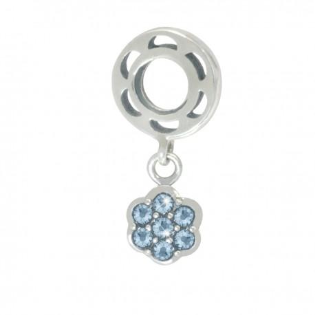 """Přívěsek na náramek """"Blue Daisy"""" 925 Sterlingové stříbro"""