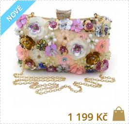 2c04a484b79e květinová společenská luxusní kabelka ...