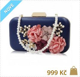 790597718b98 ... modrá luxusní kabelka s květinovým vzorem ručně dělaná ...