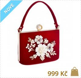 8ebebe04a1ca květinová společenská luxusní kabelka