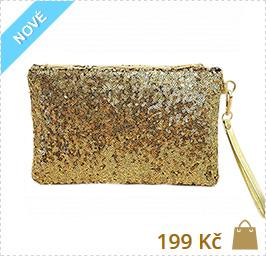 psaníčko zlaté kabelky