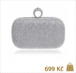 stříbrná hand bag